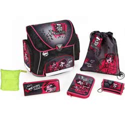Cartable a roulettes Monster High set de fournitures scolaires monster high