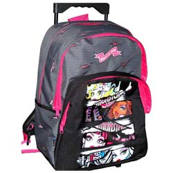Trolley sac à roulettes monster high