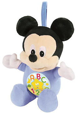 peluche mickey baby lumineuse et sonore