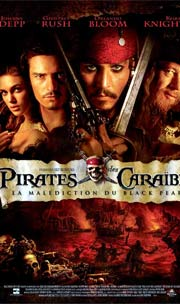 affiche Pirate des caraibes - La malediction du black pearl