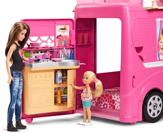 camping car duplex de poup e barbie. Black Bedroom Furniture Sets. Home Design Ideas