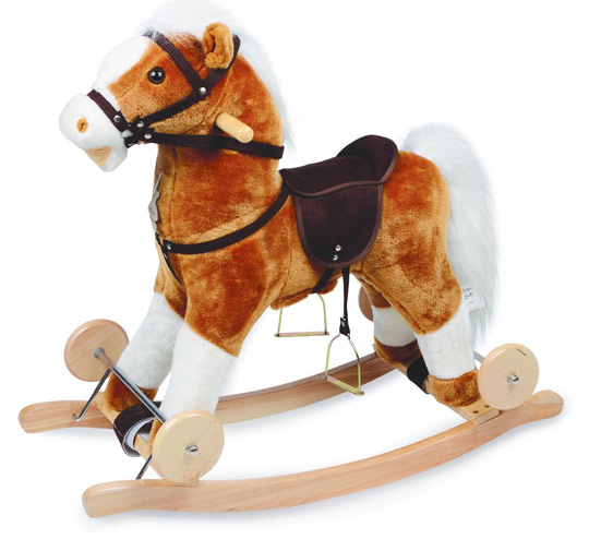 Acheter un cheval à bascule en peluche