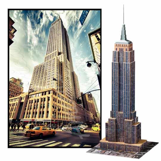 Puzzle 3d empire state building - Construction en rondins empiles ...