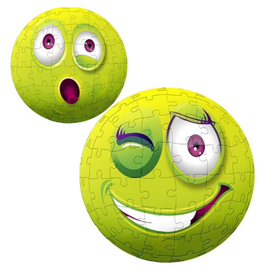Puzzles 3D smiley