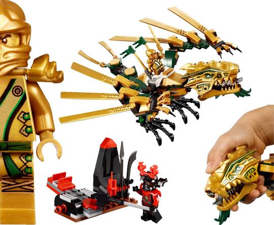 Dragon d or ninjago colorier les enfants - Ninjago dragon d or ...