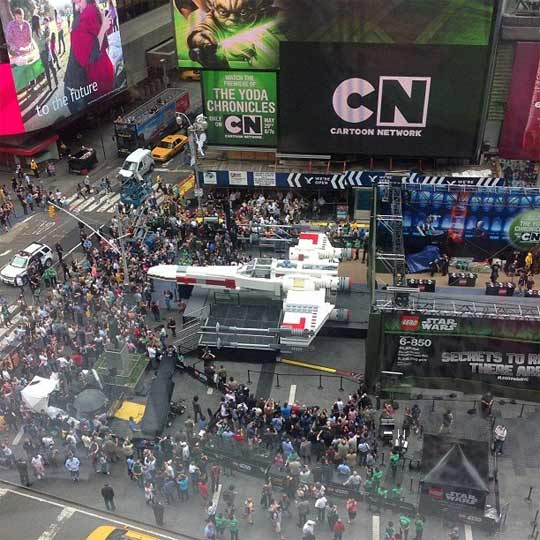 Le X-Wing Starfighter à Times Square
