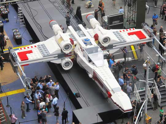 Le X-Wing Starfighter dans à Times Square