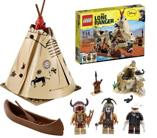 Lego Lone Ranger Le camp Comaanche
