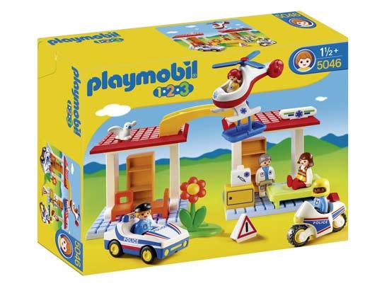 Playmobil 123 des playmobils pour les petits - Caserne de police playmobil ...