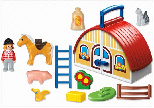 Playmobil 123 - La ferme transportable - 6778 - Contenu