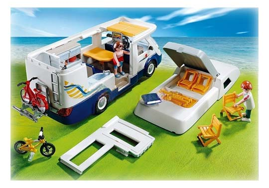 Playmobil -Grand camping-car familial - 4859 - Toit amovible