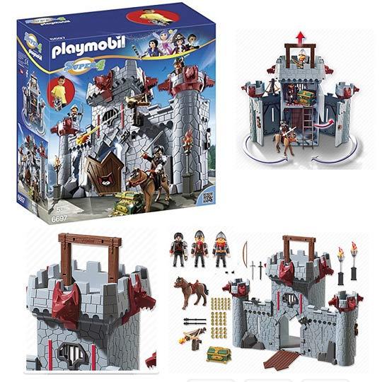 Playmobil Super 4 6697 Citadelle transportable du Baron Noir ColliShop