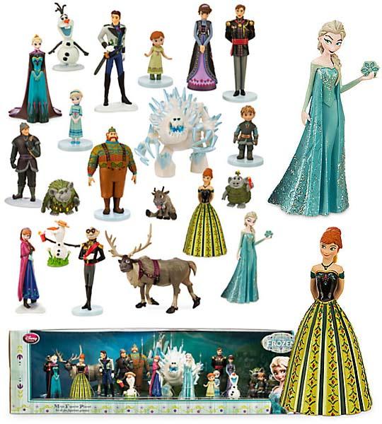 Disney; Ensemble de figurines La Reine des NeigesAnna, Elsa, Kristoff,