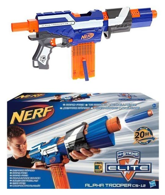Fusil Nerf Elite Alpha Trooper CS-12