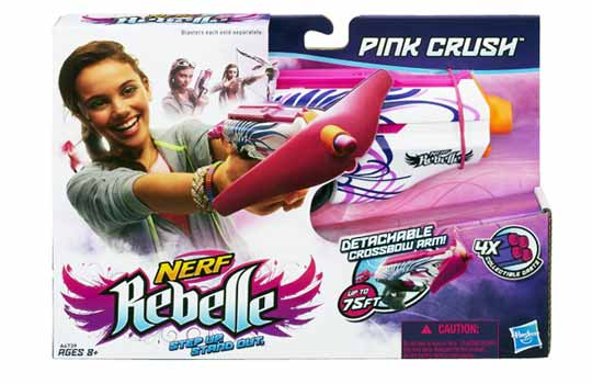 Nerf rebelle -Pistolet Pink Crush