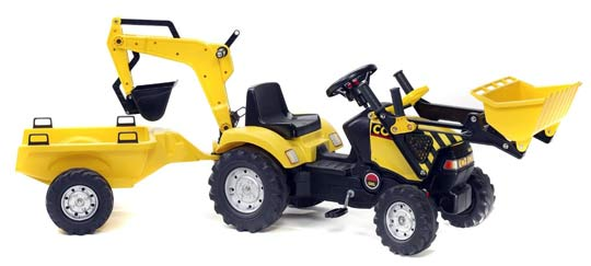 tracteur country pelle excavatrice remorque pm