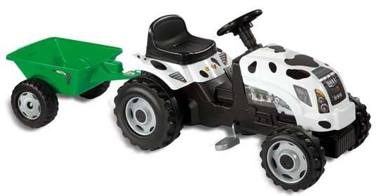 tracteur vache avec remorque de smoby. Black Bedroom Furniture Sets. Home Design Ideas