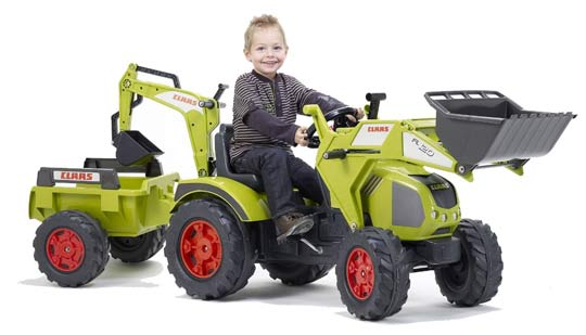 Tractopelle ranch avec excavatrice et remorque basculante - Cars et les tracteurs ...
