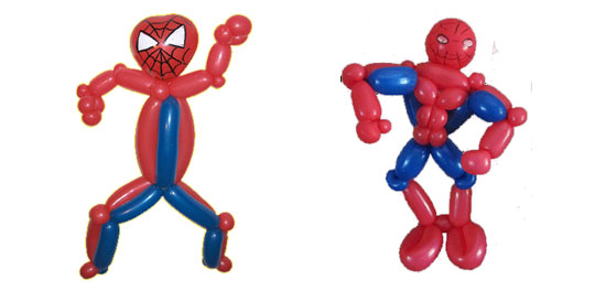 Image insolite Spiderman - Ballons spiderman