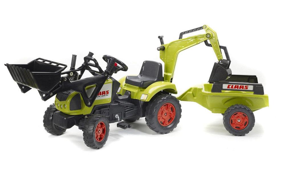 Tracteur power avec excavatrice et remorque de falk - Remorque tracteur enfant ...
